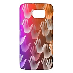 Clipart Hands Background Pattern Galaxy S6 by Nexatart
