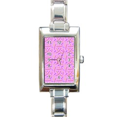 Confetti Background Pattern Pink Purple Yellow On Pink Background Rectangle Italian Charm Watch