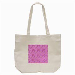 Confetti Background Pattern Pink Purple Yellow On Pink Background Tote Bag (cream) by Nexatart