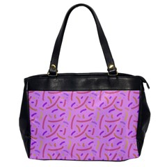 Confetti Background Pattern Pink Purple Yellow On Pink Background Office Handbags by Nexatart