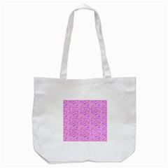Confetti Background Pattern Pink Purple Yellow On Pink Background Tote Bag (white)