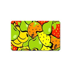 Digitally Created Funky Fruit Wallpaper Magnet (name Card) by Nexatart