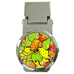 Digitally Created Funky Fruit Wallpaper Money Clip Watches by Nexatart