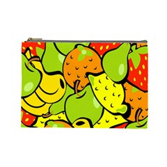 Digitally Created Funky Fruit Wallpaper Cosmetic Bag (large)  by Nexatart