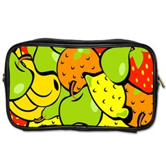 Digitally Created Funky Fruit Wallpaper Toiletries Bags by Nexatart