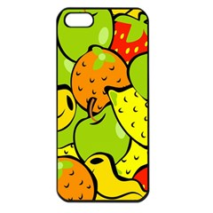 Digitally Created Funky Fruit Wallpaper Apple Iphone 5 Seamless Case (black) by Nexatart