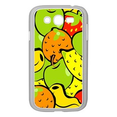 Digitally Created Funky Fruit Wallpaper Samsung Galaxy Grand Duos I9082 Case (white) by Nexatart