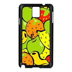 Digitally Created Funky Fruit Wallpaper Samsung Galaxy Note 3 N9005 Case (black)