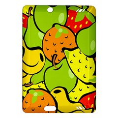 Digitally Created Funky Fruit Wallpaper Amazon Kindle Fire Hd (2013) Hardshell Case by Nexatart