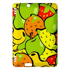 Digitally Created Funky Fruit Wallpaper Kindle Fire Hdx Hardshell Case by Nexatart