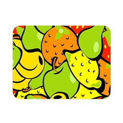 Digitally Created Funky Fruit Wallpaper Double Sided Flano Blanket (mini)  by Nexatart