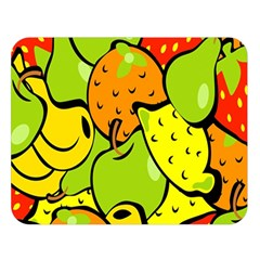 Digitally Created Funky Fruit Wallpaper Double Sided Flano Blanket (large)  by Nexatart