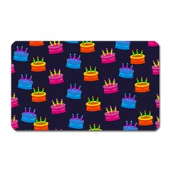 A Tilable Birthday Cake Party Background Magnet (rectangular) by Nexatart