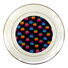 A Tilable Birthday Cake Party Background Porcelain Plates by Nexatart