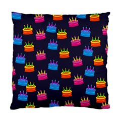 A Tilable Birthday Cake Party Background Standard Cushion Case (two Sides)