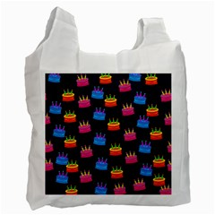 A Tilable Birthday Cake Party Background Recycle Bag (two Side)  by Nexatart
