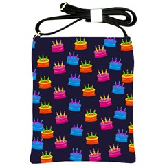 A Tilable Birthday Cake Party Background Shoulder Sling Bags by Nexatart