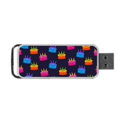 A Tilable Birthday Cake Party Background Portable Usb Flash (one Side) by Nexatart