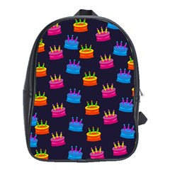 A Tilable Birthday Cake Party Background School Bags (xl)  by Nexatart