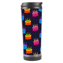 A Tilable Birthday Cake Party Background Travel Tumbler by Nexatart