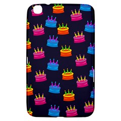 A Tilable Birthday Cake Party Background Samsung Galaxy Tab 3 (8 ) T3100 Hardshell Case  by Nexatart