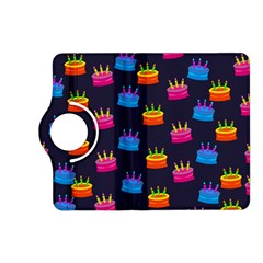 A Tilable Birthday Cake Party Background Kindle Fire Hd (2013) Flip 360 Case by Nexatart