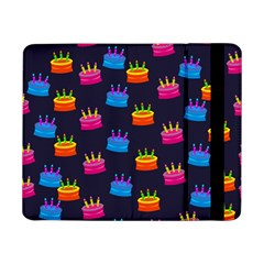 A Tilable Birthday Cake Party Background Samsung Galaxy Tab Pro 8 4  Flip Case by Nexatart