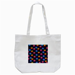 A Tilable Birthday Cake Party Background Tote Bag (white)