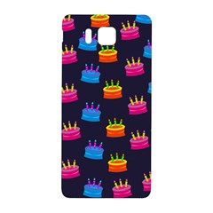A Tilable Birthday Cake Party Background Samsung Galaxy Alpha Hardshell Back Case by Nexatart