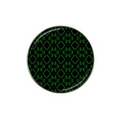 Green Black Pattern Abstract Hat Clip Ball Marker (10 pack)