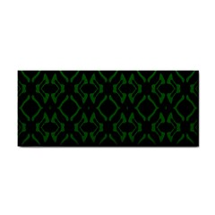 Green Black Pattern Abstract Cosmetic Storage Cases by Nexatart