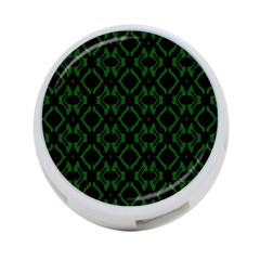 Green Black Pattern Abstract 4 Port Usb Hub (one Side)
