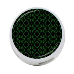 Green Black Pattern Abstract 4 Port Usb Hub (two Sides)  by Nexatart