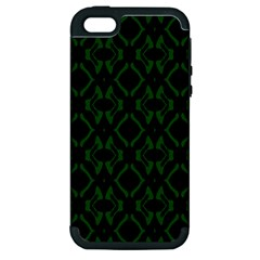 Green Black Pattern Abstract Apple Iphone 5 Hardshell Case (pc+silicone) by Nexatart