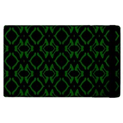Green Black Pattern Abstract Apple Ipad 2 Flip Case by Nexatart