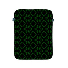 Green Black Pattern Abstract Apple Ipad 2/3/4 Protective Soft Cases by Nexatart