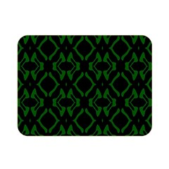 Green Black Pattern Abstract Double Sided Flano Blanket (mini)  by Nexatart