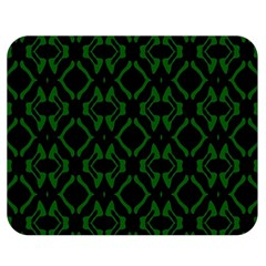 Green Black Pattern Abstract Double Sided Flano Blanket (medium)  by Nexatart