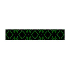 Green Black Pattern Abstract Flano Scarf (Mini)