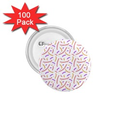 Confetti Background Pink Purple Yellow On White Background 1 75  Buttons (100 Pack)  by Nexatart