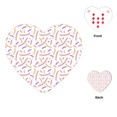 Confetti Background Pink Purple Yellow On White Background Playing Cards (heart)  by Nexatart