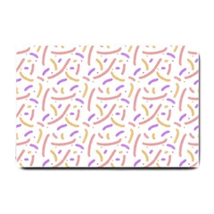 Confetti Background Pink Purple Yellow On White Background Small Doormat