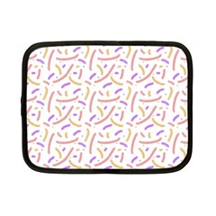 Confetti Background Pink Purple Yellow On White Background Netbook Case (small)
