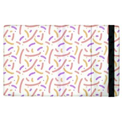 Confetti Background Pink Purple Yellow On White Background Apple Ipad 3/4 Flip Case by Nexatart