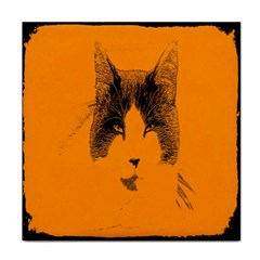 Cat Graphic Art Tile Coasters