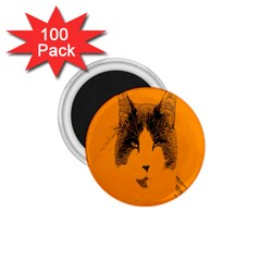 Cat Graphic Art 1 75  Magnets (100 Pack)  by Nexatart