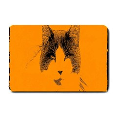 Cat Graphic Art Small Doormat  by Nexatart