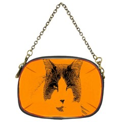 Cat Graphic Art Chain Purses (two Sides)