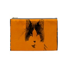 Cat Graphic Art Cosmetic Bag (medium)