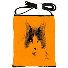 Cat Graphic Art Shoulder Sling Bags by Nexatart